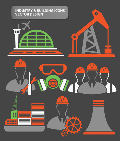 smokestack: Industry,engineer and factory icon set,clean vector