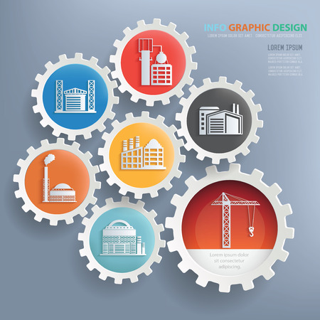 mine data: Factory and industry design infographic design,clean vector Illustration