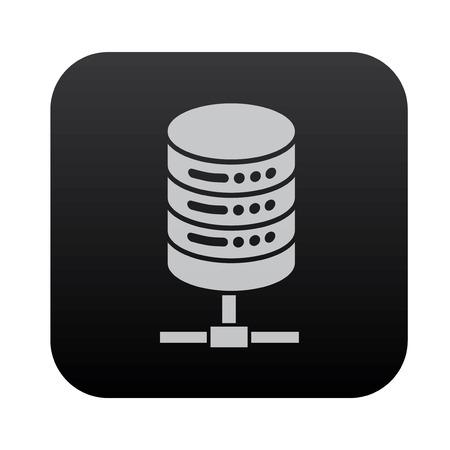 database icon: Database server on black button blackboard,vector