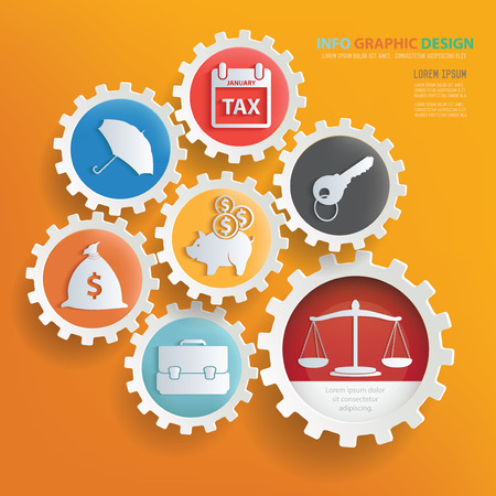 human resource: Business concept infographic design,clean vector