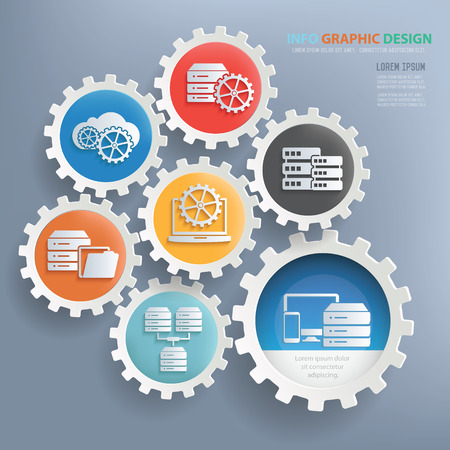 Networking and technology design infographic design,clean vector