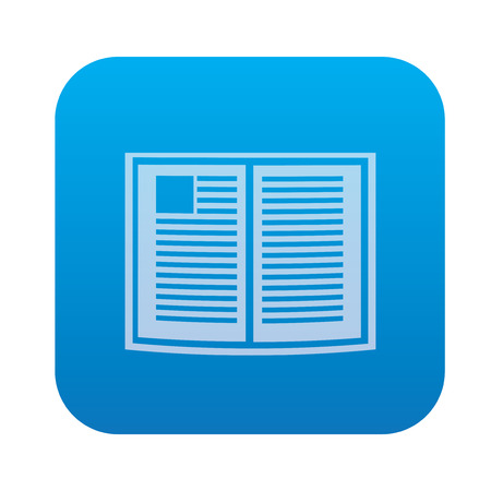 electronic publishing: Book icon on blue button background,clean vector