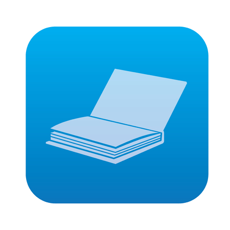 periodicals: Book icon on blue background,clean vector