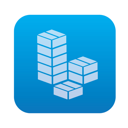 work crate: Box icon on blue background,clean vector