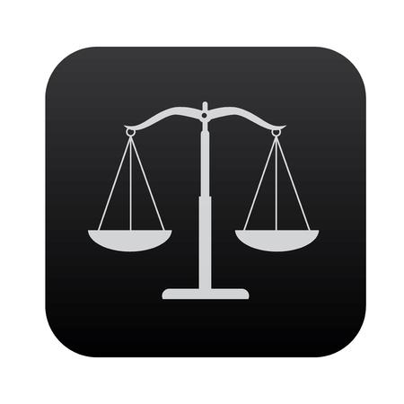 justice scale: Justice scale on black button blackboard,vector Illustration