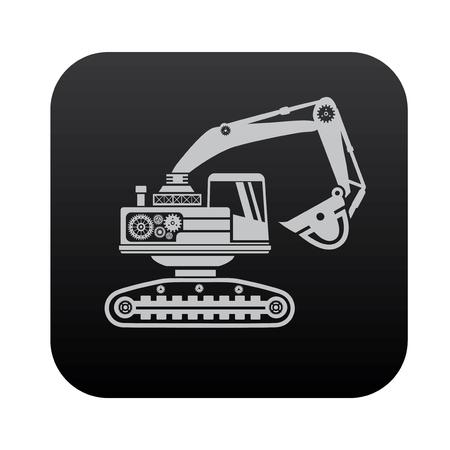 roadwork: Car,industry on black button blackboard,vector
