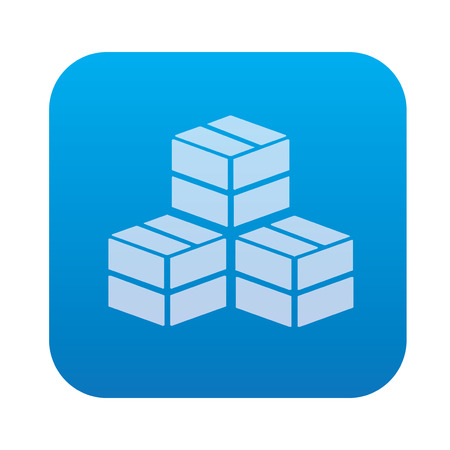 fascia: Box cargo icon on blue background,clean vector Illustration