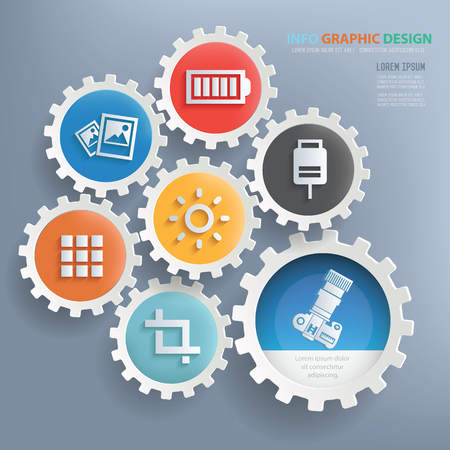 retouch: Photography concept design,info graphic,vector Illustration