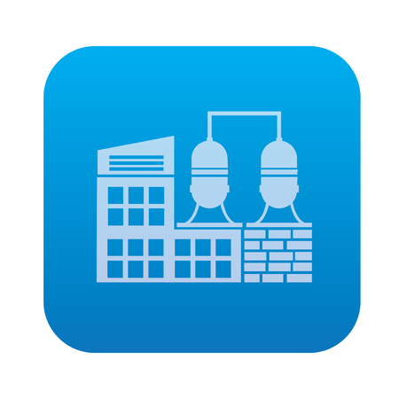 conveyer: Factory,industry icon on blue background,clean vector