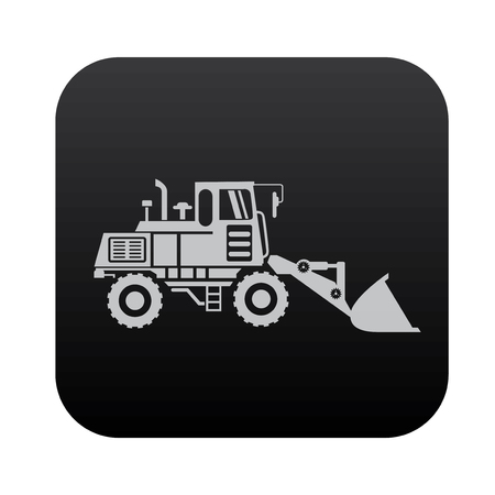 black button: Truck,industry on black button blackboard,vector