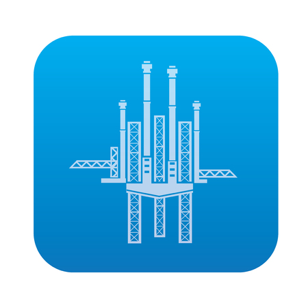 petroleum blue: Oil ,industry icon on blue background,clean vector