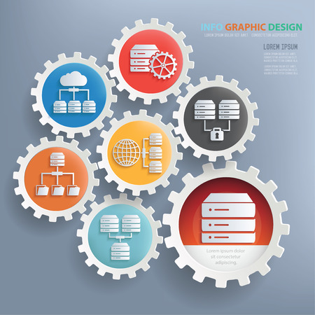 variety: Networking and technology design infographic design,clean vector