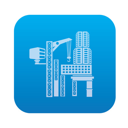 high rise buildings: Building,construction,industry icon on blue background,clean vector Illustration