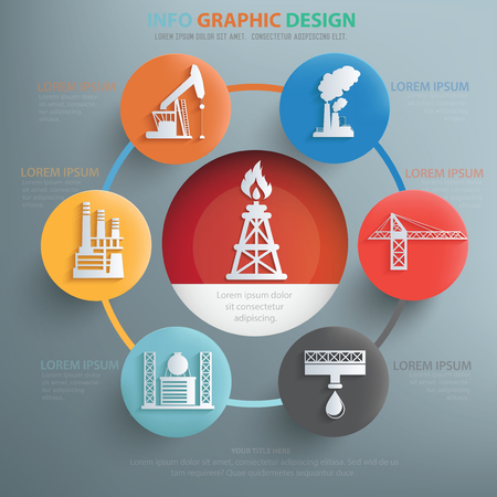 mine data: Factory and technology design infographic design,clean vector