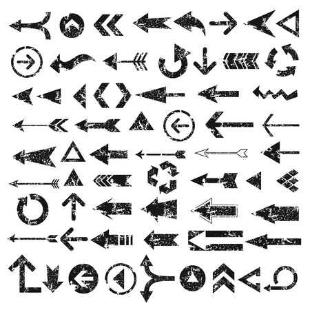 arrows: Grunge Arrows design on white background, vector