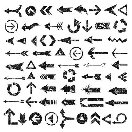 flechas: Las flechas de Grunge diseño de fondo blanco, vector