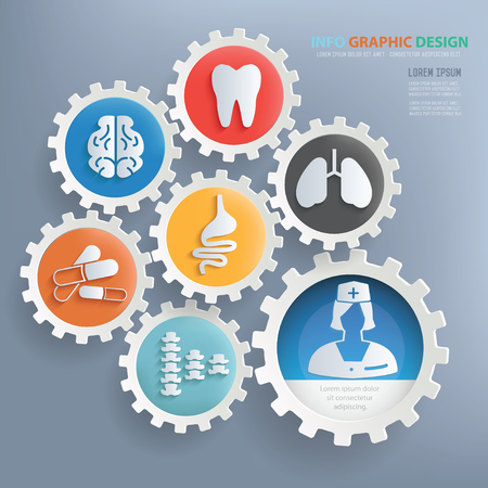 privat: Medical and healthy care infographic design,clean vector