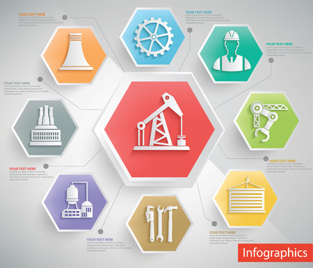 mine data: Oil industry and engineer info graphic design,clean vector Illustration
