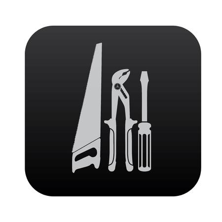 nipper: Repair tool on black button blackboard,vector