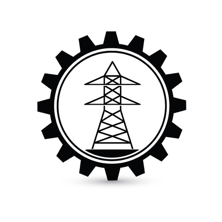 disaster supplies: Electricity design,gear concept on white background,clean vector Illustration