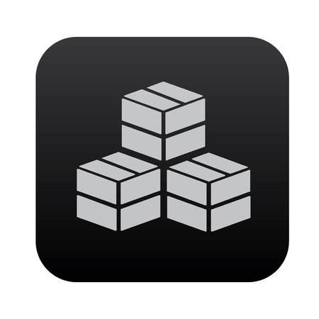 consign: Box,cargo on black button blackboard,vector