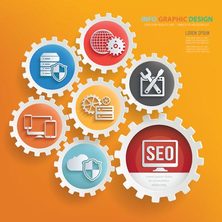 Progettazione infographic di concetto di vendita di SEO