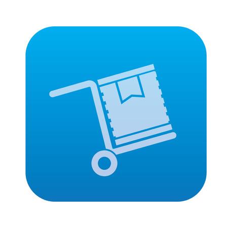 blue button: Cargo icon on blue button background