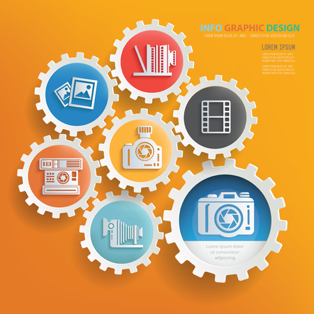 metering: Camera and photography infographic design