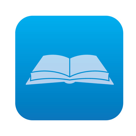 university application: Book icon on blue background,clean vector