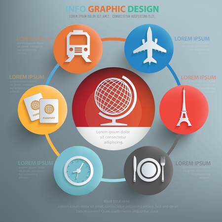 for the design: Travel concept design,info graphic,vector Illustration