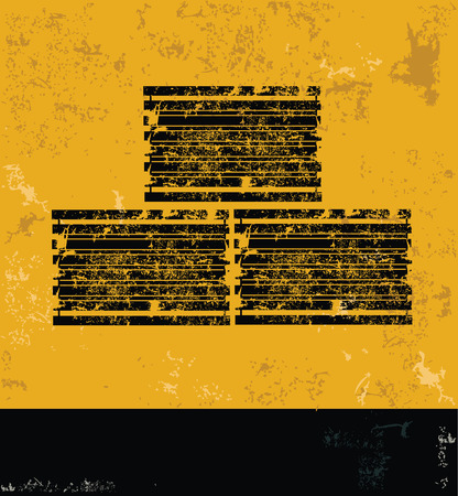 inter: Container concept design, yellow grunge vector