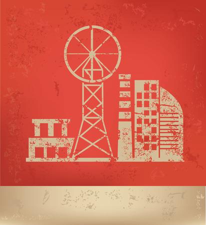 hazardous to the environment: Industry design,vector