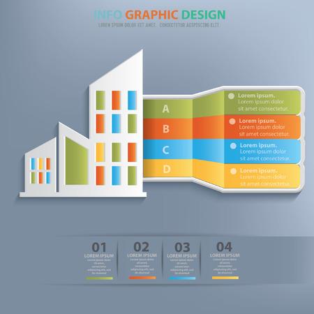 Real estate design,vector