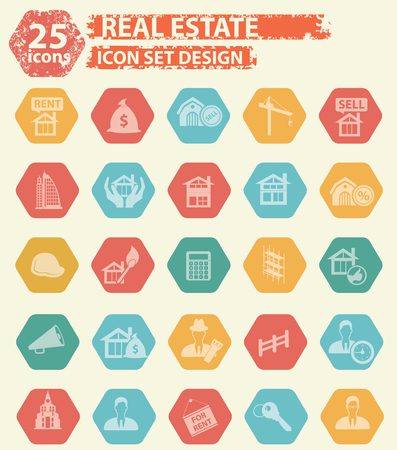 mortage: Real estate icons concept design,vector