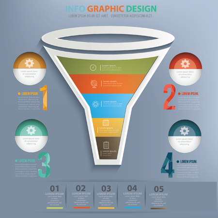 streamlining: Funnel concept design,vector Illustration