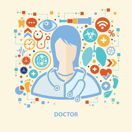 fullbody: Doctor concept design,vector