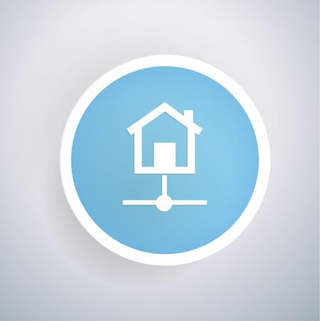 remote backup service: Host concept design,vector Illustration