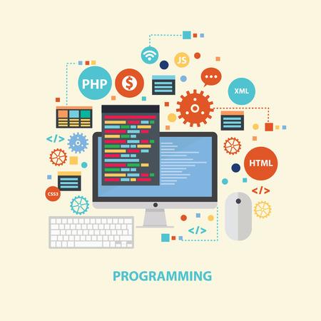 concept design programmation, vecteur