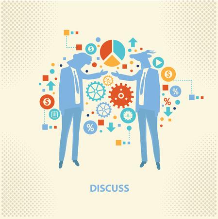 businessteam: Discuss concept design,vector Illustration