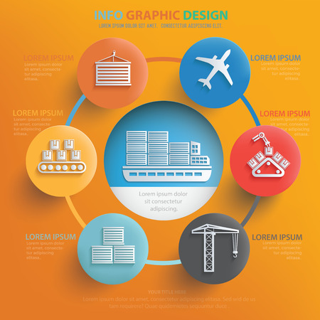 credit card business woman: Logistic,cargo,shipping concept design,vector