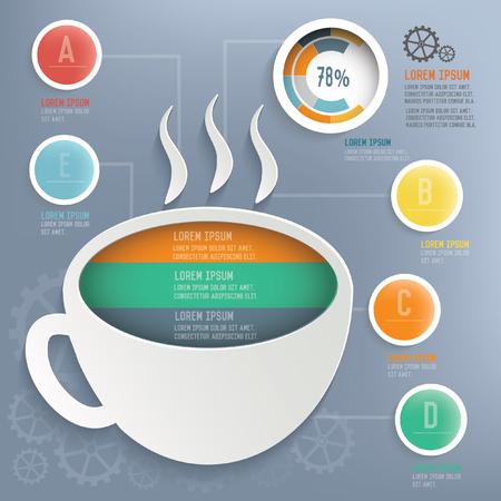 Coffee concept design,vector