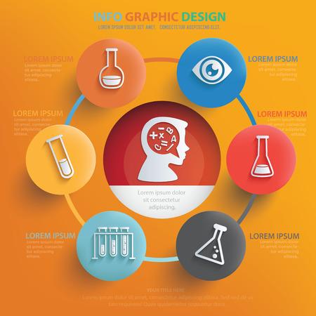 Science concept design,vector