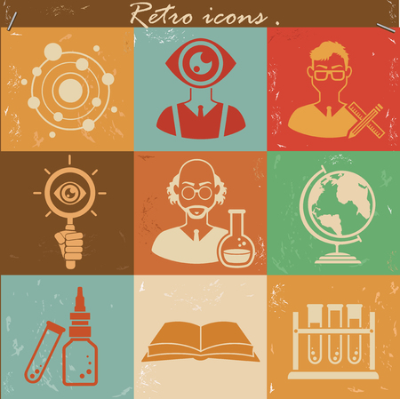Science icons concept design,vector