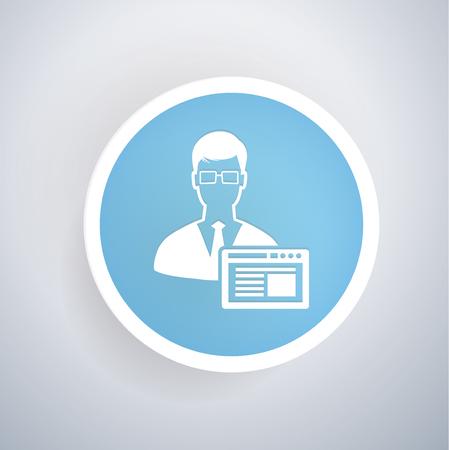 Admin concept design,vector