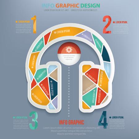 earphone: Earphone concept design,vector