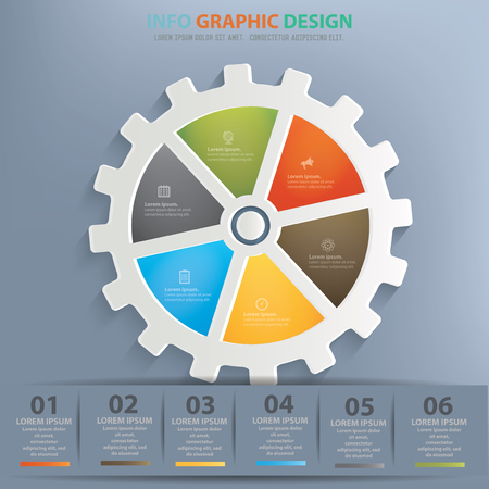 gearing: Gear concept design,vector
