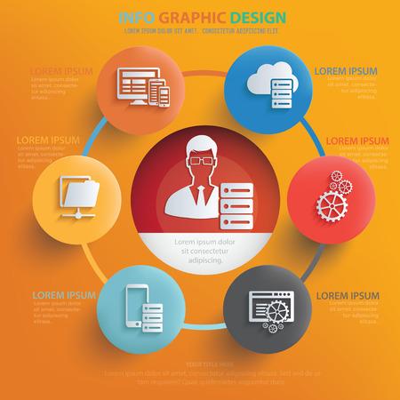 ADMIN: Admin,database server concept design,vector Illustration