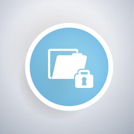 folder lock: Lock,folder concept design,vector Illustration