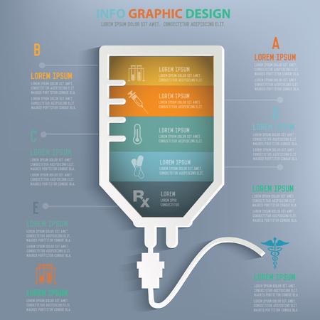 iv: Saline concept design,vector