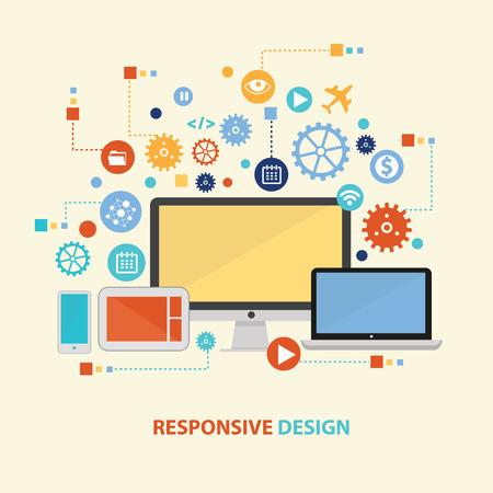 responsive: Responsive concept design,vector Illustration
